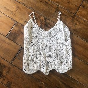 Boho Knit sheer Top